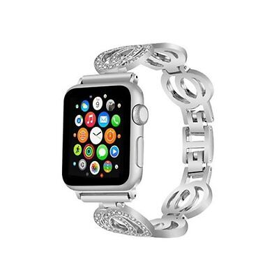 Watch Band For Apple Series 1/2/3 Sport Edition Replacement Strap-42mm Silver