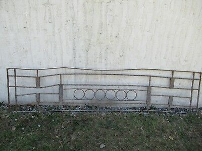 Antique Victorian Iron Gate Window Garden Fence Architectural Salvage Door #079