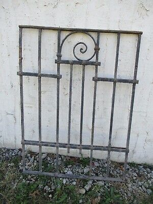Antique Victorian Iron Gate Window Garden Fence Architectural Salvage Door #059
