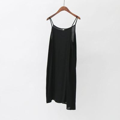 Women Summer New Casual Wear Cotton Fabric Strap Loose Vintage Dress