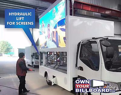 Bran NEW Led billboard Truck HD Video with Hydraulic Lift screens
