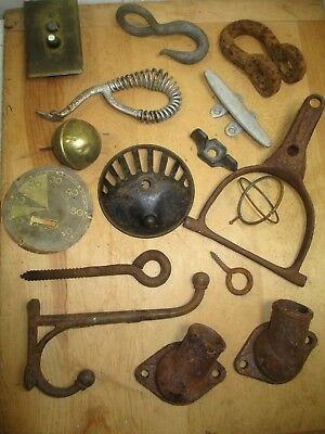 16 Piece Metal Junk Drawer Lot - Misc Items for Artist, Metalsmith, RePurpose