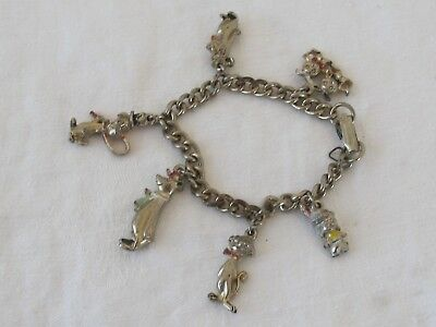 Vtg Hanna Barbera Charm Bracelet Yogi Boo Bear Tom Dixie Pixie Jinks Cartoon