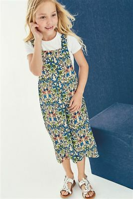 NEXT Girls Floral Printed Dungarees Playsuit - BNWT