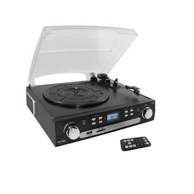 Inovalley Retro05 Stereo System Turntable With Usb Sd Aux Fm/am Cassette