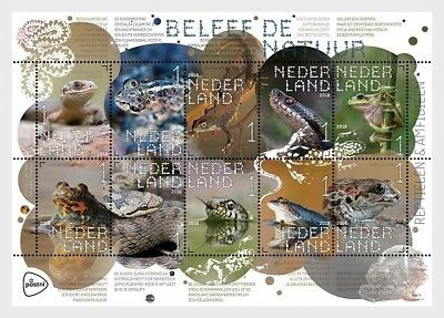 Netherlands   2018   Reptiles   Snakes  Frogs  Sheet Mnh   New
