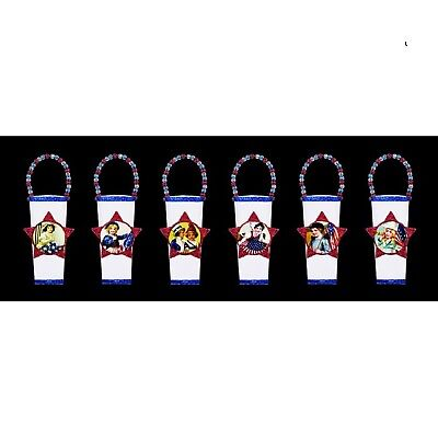 New Set of 6 Different Tin 4th of July Hanging Containers