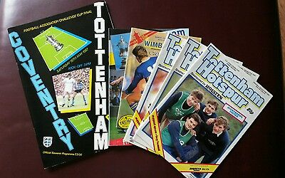 Tottenham ' s 1987 FA Cup run (Full Set of programmes 3rd round to Final)