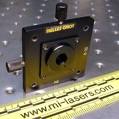 MELLES GRIOT 07HPH001, 2 AXIS POSITIONER & 200um PINHOLE APERATURE laser optics