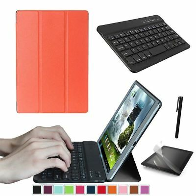"Orange Samsung Galaxy Tab A 10.1"" T580 T585 Tablet Tasche Case Hulle + Tastatur"