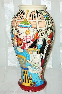 "MOORCROFT - HIGH SOCIETY  Tall Vase 12.5""  - 1st Quality"