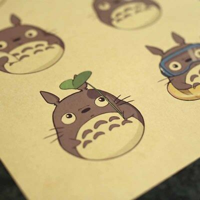 Tonari no Totoro Miyazaki Cartoon Film Anime Craft Posters Decor Home Bar
