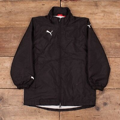Boys Vintage Puma Black Padded Jacket Medium Age 9-10 R7070