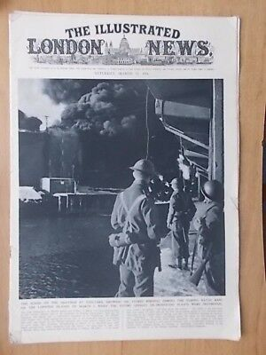 WWII ILLUSTRATED LONDON NEWS - MARCH 15th 1941 - U.S. DESTROYER IN ATLANTIC