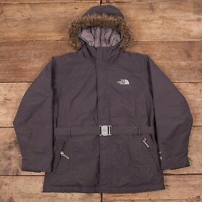 Girls Vintage North Face Hyvent 550 Grey Waterproof Goose Down Jacket XL R7120