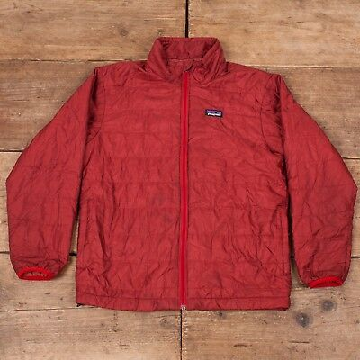 Boys Vintage Patagonia Primaloft Red Insulated Jacket Medium 10 R7123