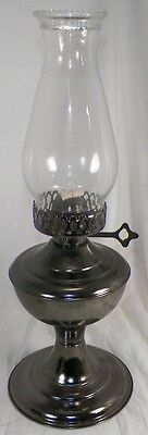 Nos Vintage Early American Pewter Kerosene Lamp By Hilco In Box