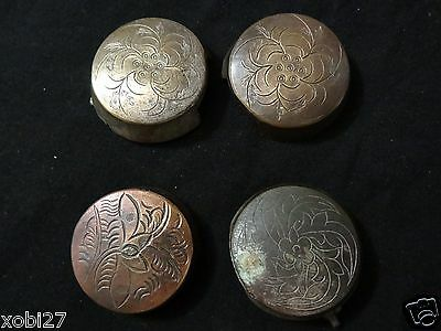 Antique Chinese Manchu Cast Brass / Copper  Ornament  With Hand Chased Pattern