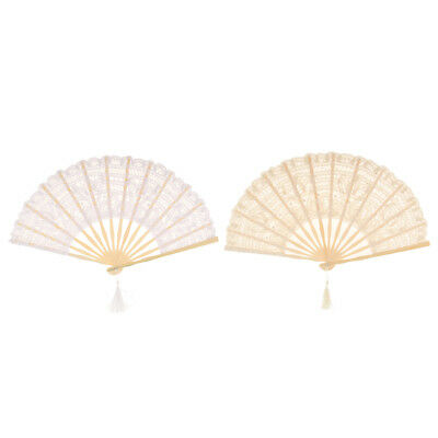 Elegant Chinese Style Lace Folding Hand Held Dance Fan Wedding Party Prom Gift