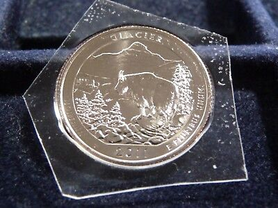 2011-P Glacier America The Beautiful Quarter From Mint Set I-2-18