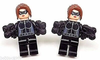 Handmade LEGO® Catwoman Cufflinks, Silver Plated Toggles, Gift Boxed!