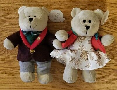 2017 NWT Starbucks Christmas Bearista Bears Boy & Girl 135 & 136 USA Limited Ed