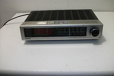 Philips 90As390 Vintage  Electronic Clock Radio
