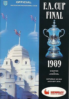 FA CUP FINAL PROGRAMME 1989 Liverpool v Everton