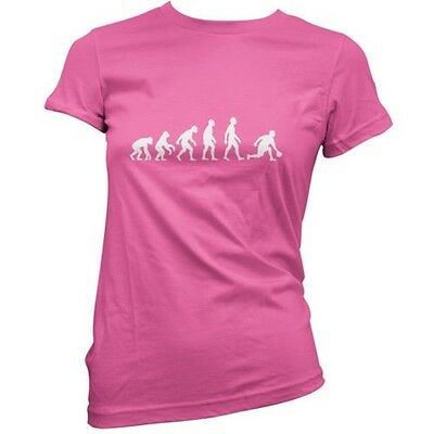 Evolution of Man Bowling - Womens / Ladies T-Shirt -11 Colours - Ten Pin Bowl