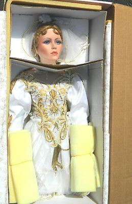 "MARIAH 42"" TALL LTD EDT Bride Porcelain Doll Bridal Gown Welden Museum BY RUSTIE"