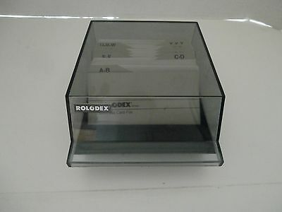 Vintage Rolodex CBC-100 Covered Case File - Includes A-Z Tabs & Blank Cards