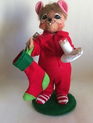 """Annalee ~ 2015 ~ Christmas ~ """"Milk & Cookies Mouse"""" ~ 6"""" ~ #601315 ~ NWT"""