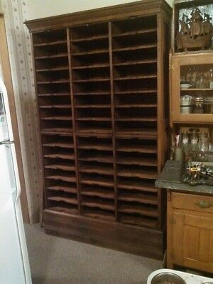 Antique Document Shelving Unit from Old Courthouse