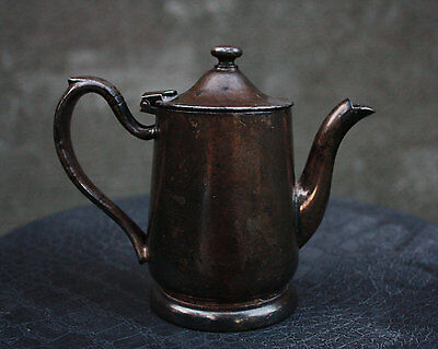 Antique Victor S. Co Silver Soldered Individual 8oz Coffee Tea Pitcher, R0120