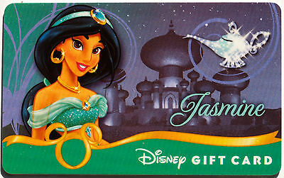 Older Disney Princess Debut Gift Card: Aladdin's JASMINE New Condition 0 Balance