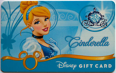 Older Disney Princess Debut Gift Card: CINDERELLA New Condition with no Balance