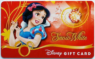 Older Disney Princess Debut Gift Card: SNOW WHITE New Condition with No Balance