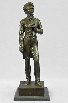 "Bronze Sculpture of 19th Century Man 17"" x 6"""
