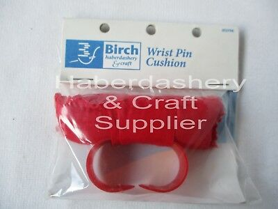 Birch Wrist Pin Cushion Red*ideal For Dressmaker