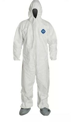 New Dupont Tyvek Coverall Bunny Suite with Hood and boots - TY122S / 2XL XXL