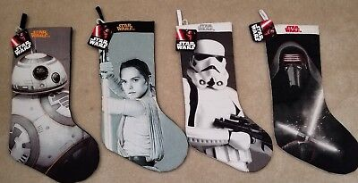 New NWT Lot of 4 Disney Star Wars Christmas Holiday Stockings FREE SHIPPING