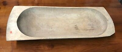 Antique Early French Dough Bowl , Hand Carved