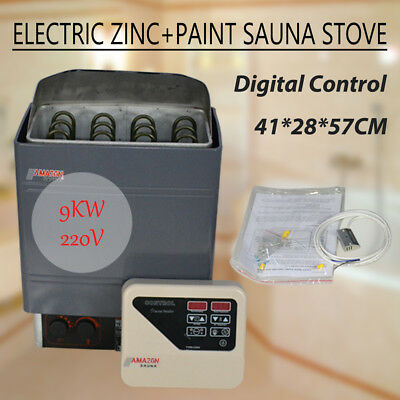 9Kw  220V Stainless Steel Amazon Wet&dry Sauna Heater Stove Digital Controller