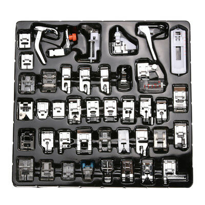 42pcs Domestic Sewing Machine Foot Presser Feet Kit for Brother Singer Janome