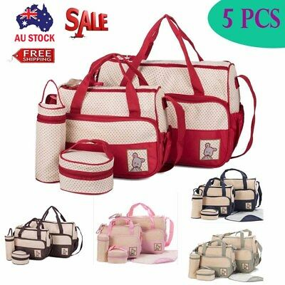 5PCS in Set Waterproof Diaper Nappy Changing Liners Bags Portable Mummy Baby Bag