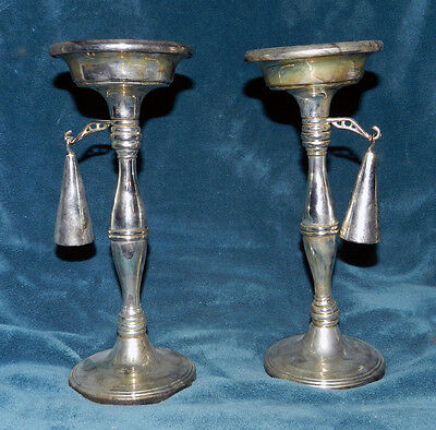 Lovely Vintage Pair Of Godinger Silver Candle Holders With Snuffers!