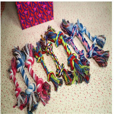 Random color Braided Bone Rope Chew Knot