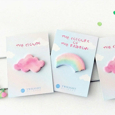 Creative Watercolor Rainbow Cloud Sticky Notes-Memo Pad Planner Stickers Hot