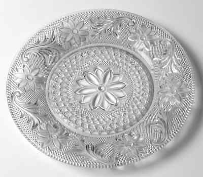 Indiana Glass SANDWICH CLEAR Luncheon Plate 240041