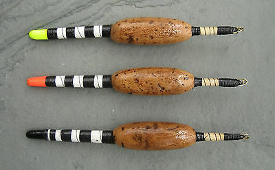 Handmade fishing floats - Cork and quill Trent trotters 4BB (1.6g) (CTT)